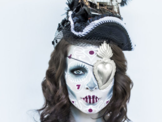 day of the dead Mexico homage stunning model painted