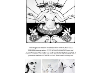 illustration made on  image of a model a body painted and photographed for  art