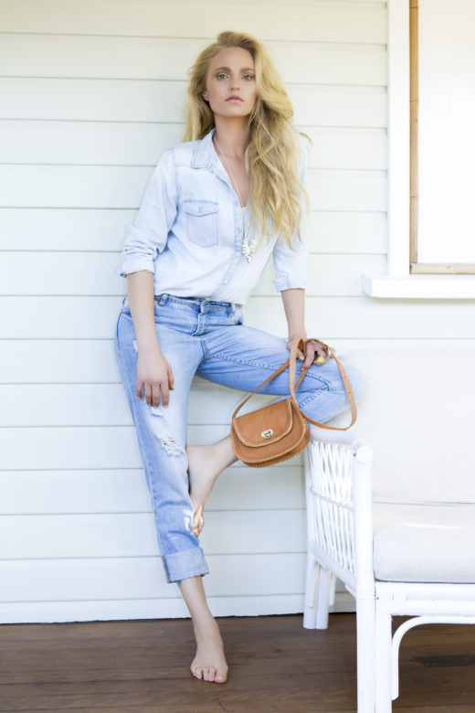 chic denim fashion