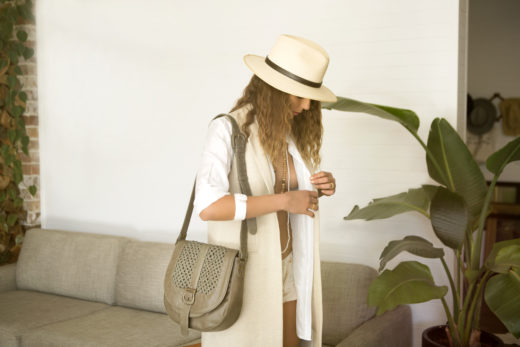 hat and chic elle for fashion editorial