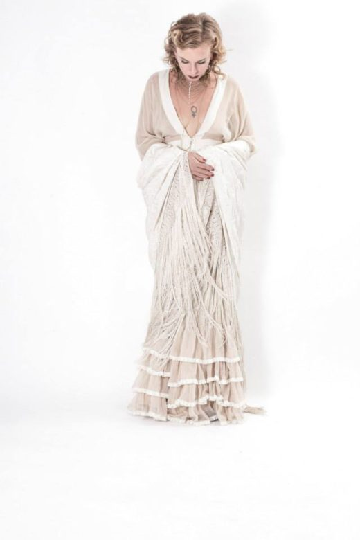 all white cream gipsy boho fashion