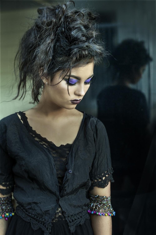 Stunning Model Portrait in black
