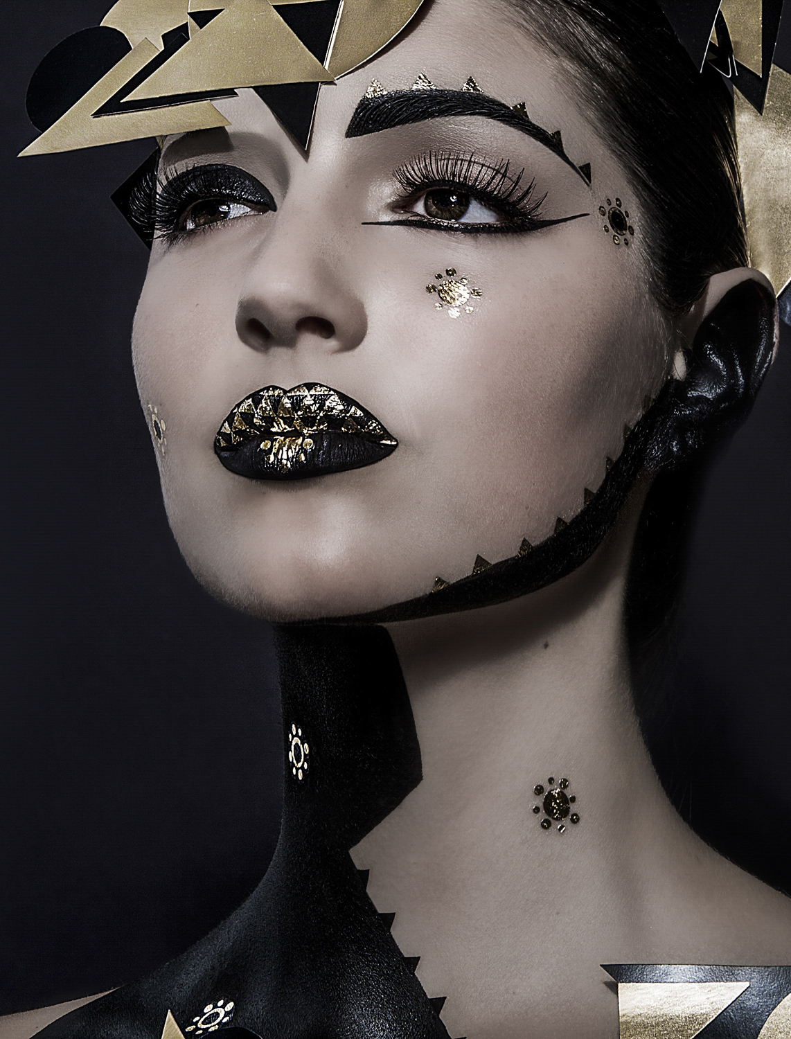 space makeupart gold black amazing makeup