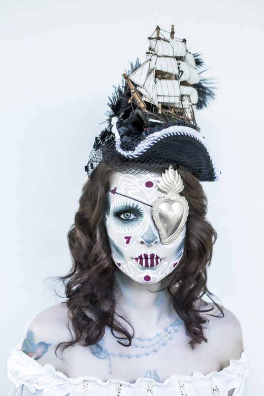sugar skull art makeup model day of the dead carmen gorgeous