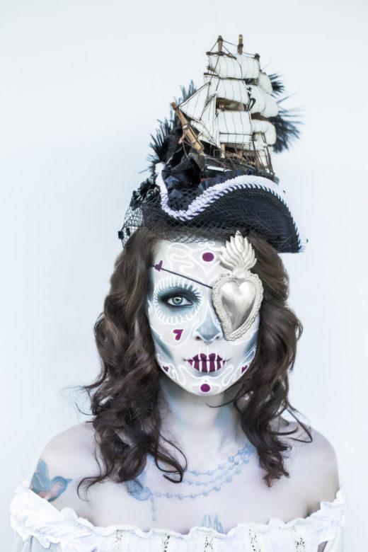 sugar skull art makeup model day of the dead carmen gorgeous