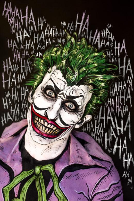 Homage to Briand Bolland's Joker from The Killing Joke by Alan Moore Photography Donatella Parisini ,Makeup  Elvis Schmoulianoff