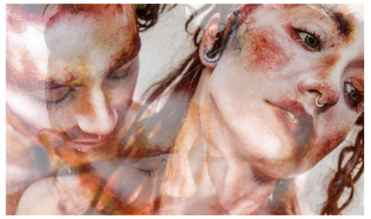 intertwined for Voilition mag amazing models painted makeup textures  art