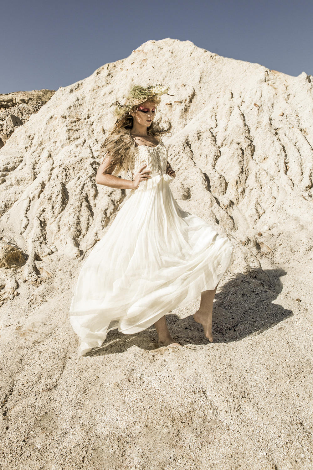 white sand and beauty , photographed by the Byron Bay 's most unique fashion photography