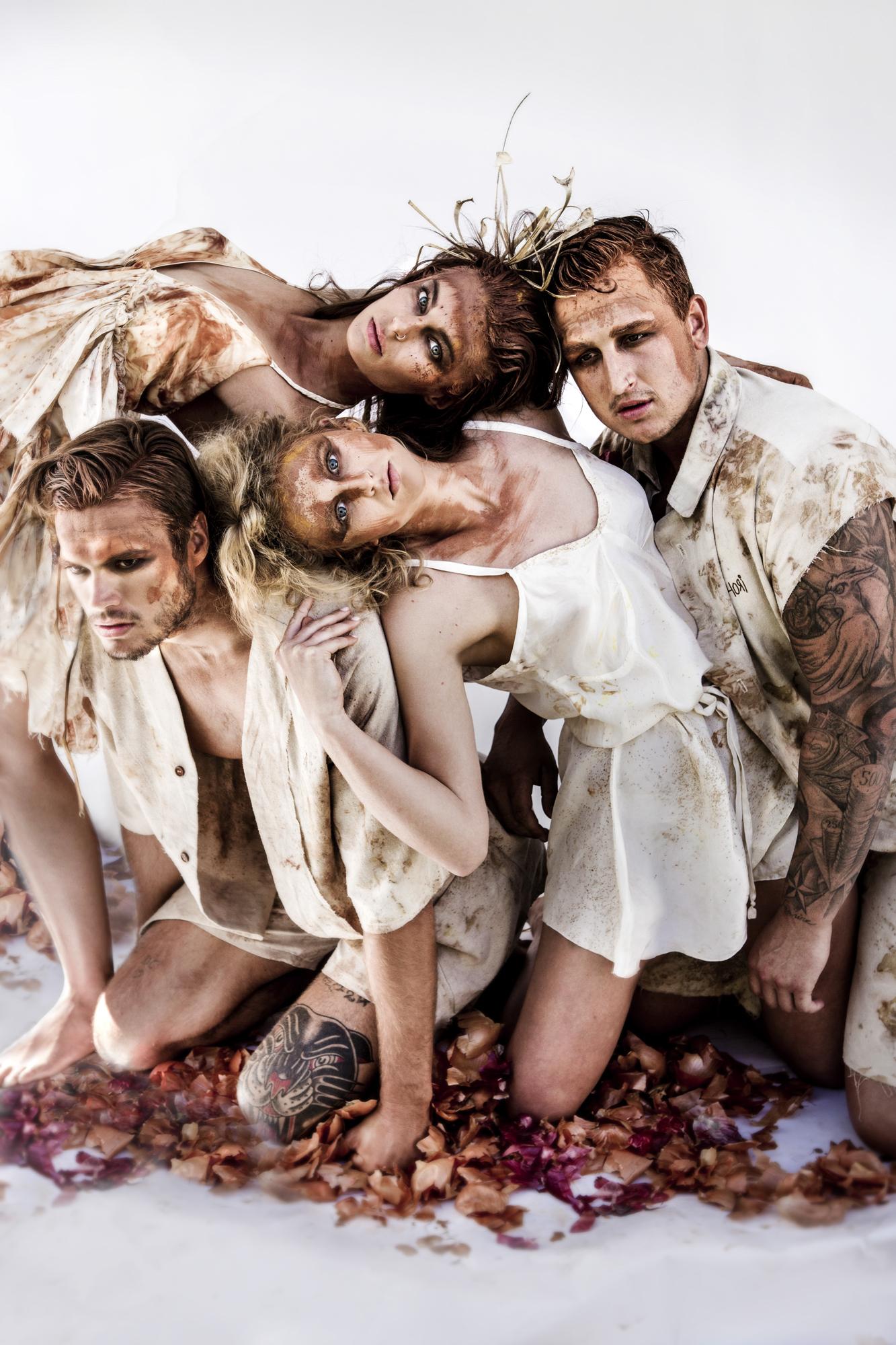 Byron bay Australia silk fashion top 10 fashion portrait campaign raw makeup art