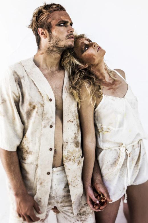 Stunning Model Portraits raw makeup art fashion silk Byron Bay