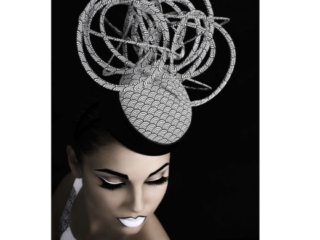 millinery hat couture and makeup art in my shoot