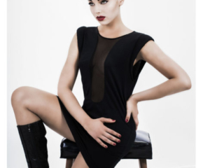 Teilia Smith wearing A. Dudley for a clean,bold,stunning shoot