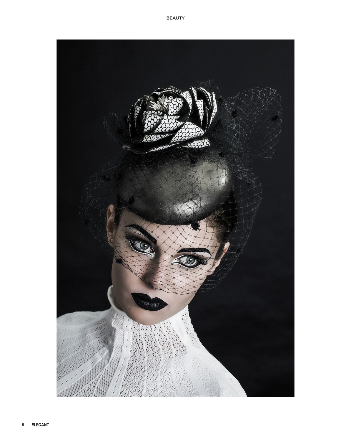 Amazing Fashion Photography hats and black lips