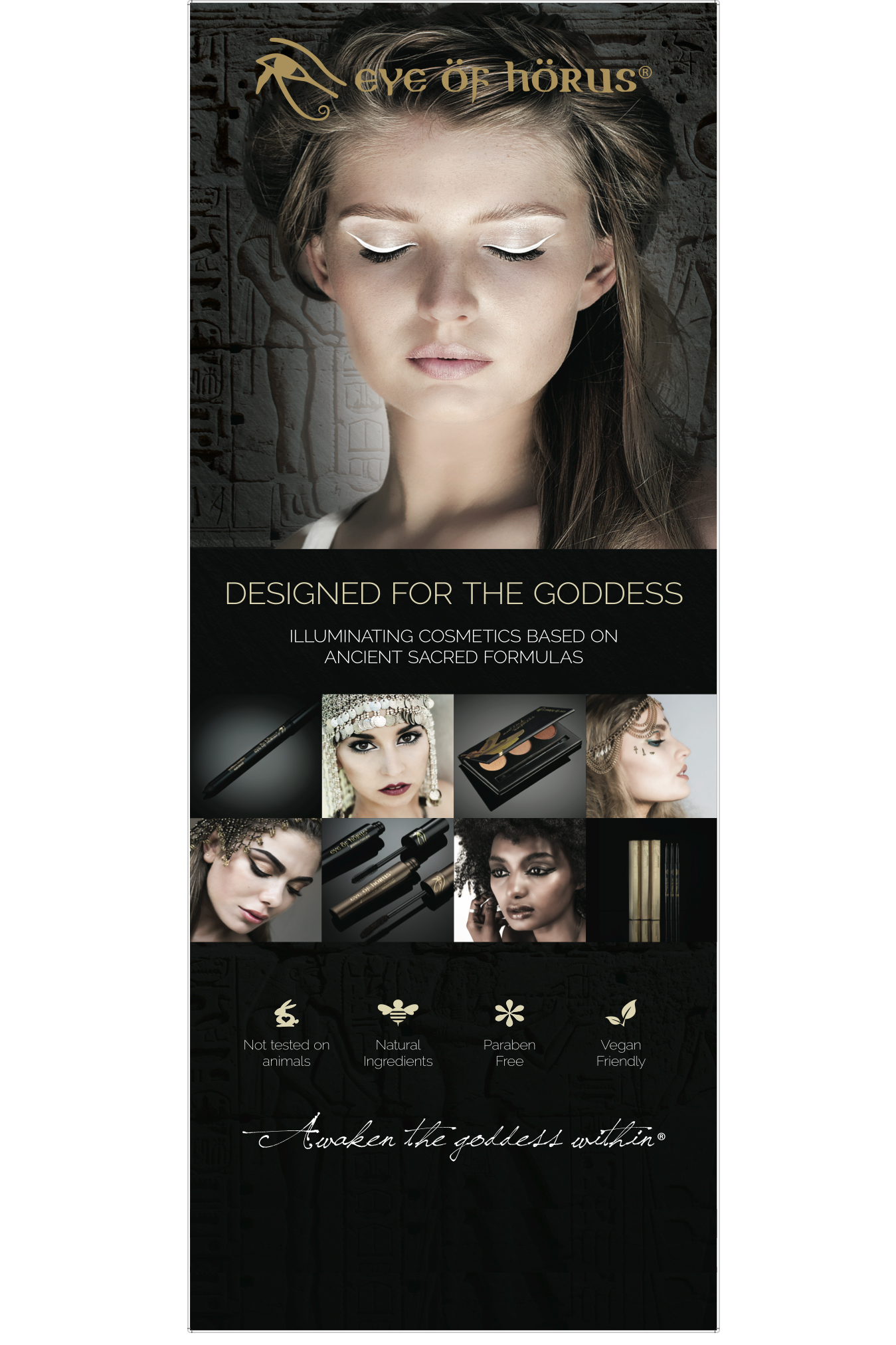 Banners promo graphic for Byron Bay 's top 10 cosmetics