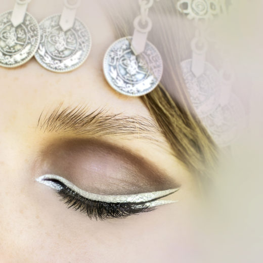 Silver eyeliner by EOH  beauty shot