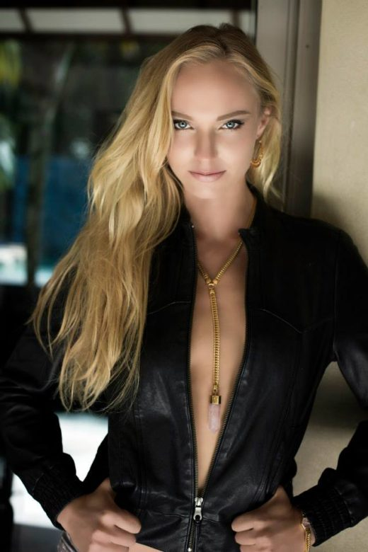 best leather sexy jacket on  location Images  with models  in Byron Bay at The Villas