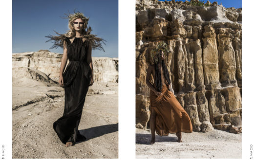 TerraLuna Editorial for Lisa Brown designs on Hacid magazine amazing models high end fashion