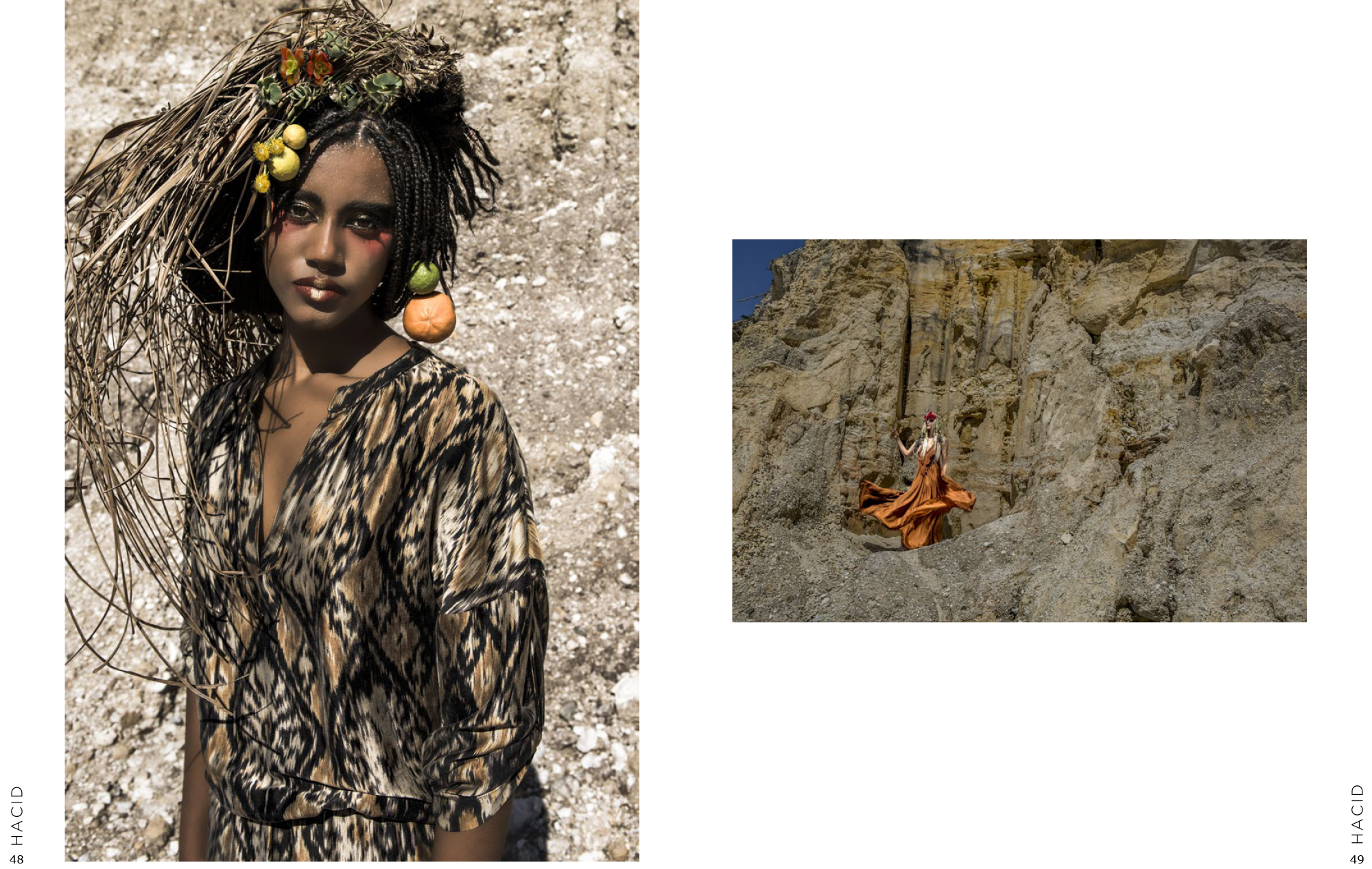 TerraLuna Editorial for Lisa Brown designs on Hacid magazine
