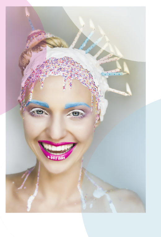 Naji happy birthday girl makeup art creative portraiture