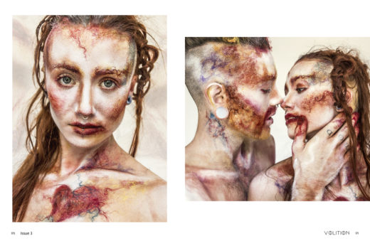 intertwined for Voilition mag Makeup beauty textured models ART