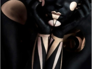 into the void dark beauty mag body paint project amazing art closeup