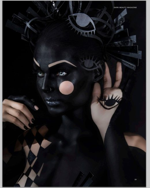 into the void dark beauty mag body paint project amazing art