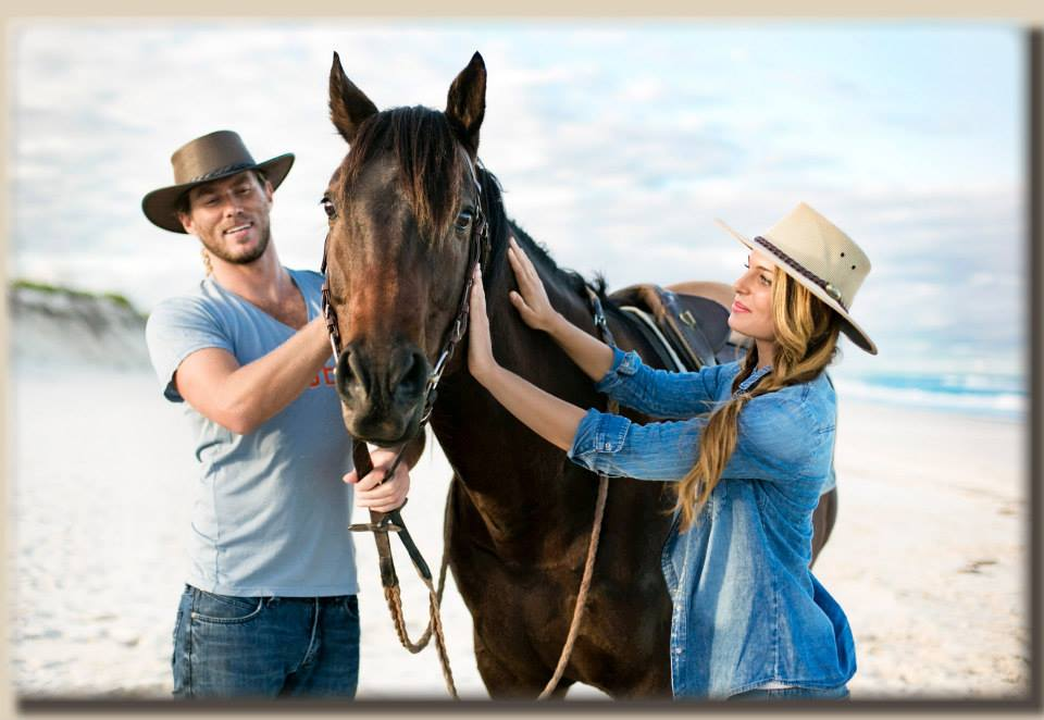 Top 10 beach Images on location with models and horse from Jacaru campaign Byron bay