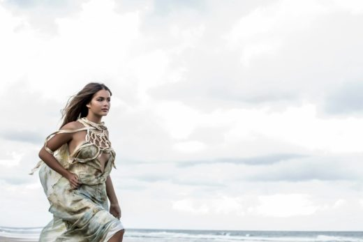 moody fashion shoot in Byron bay Australia