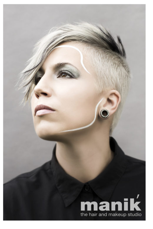 white black hair attitude for new cuts n colours  campaign