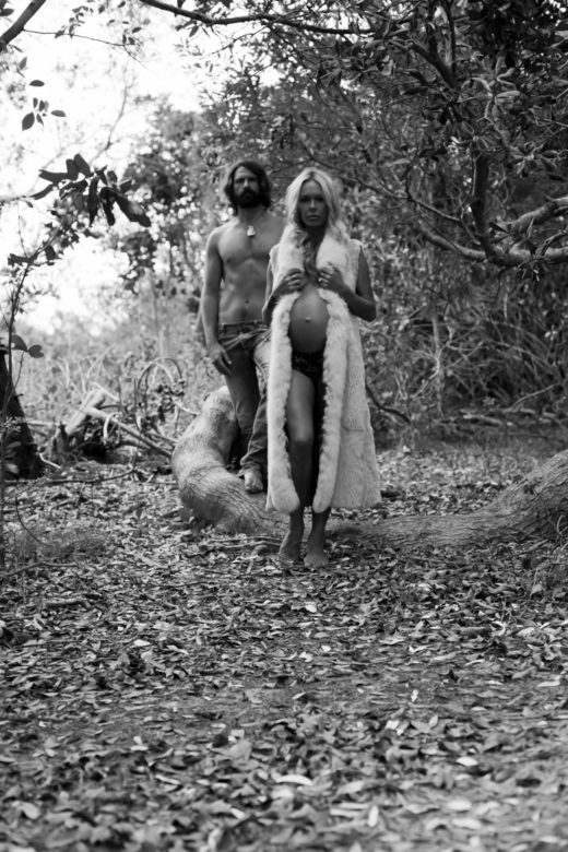 Stunning Model pregnant couple love byron bay