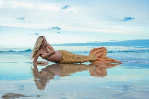 mermaid kazzie mahina reflection water  byron bay