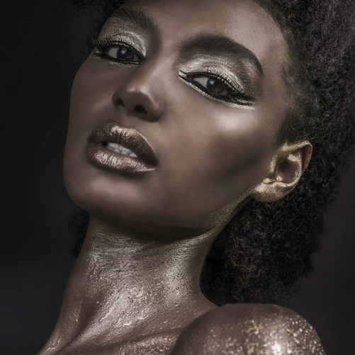 Gold & Black Liners beauty editorial EOH