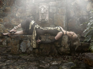 gothic feel castle beautiful  Taylah model in the fashion Editorial