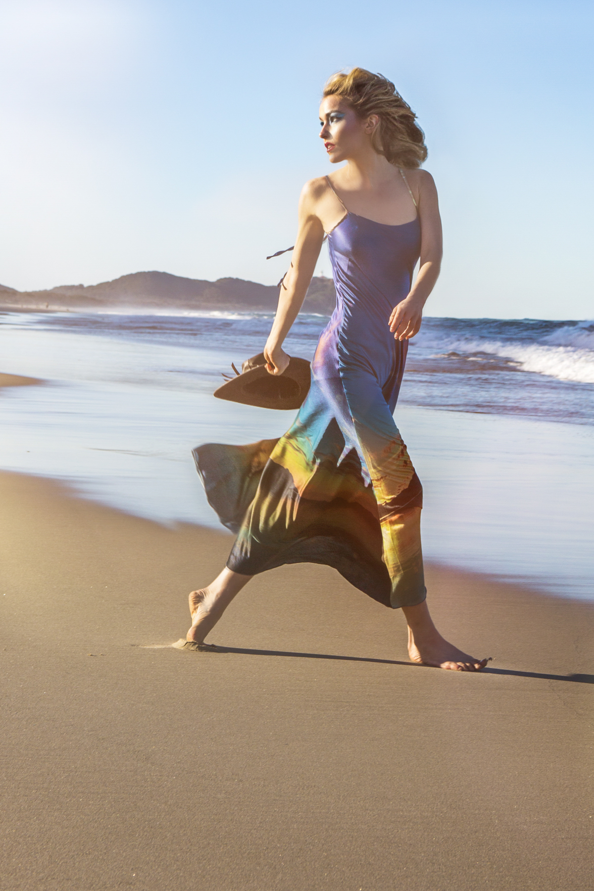 natural silk dress for beach shot