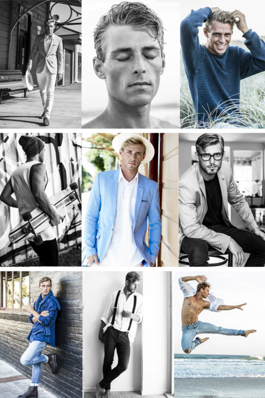 sam comp card for modelling agencies