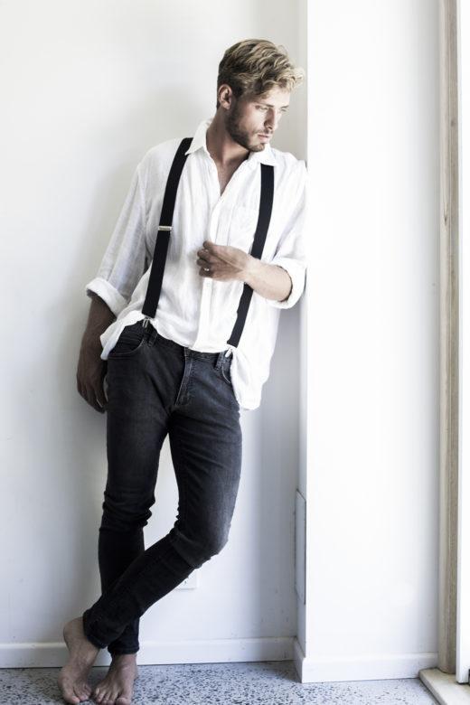 portrait of Male model's portfolio in ByronBay