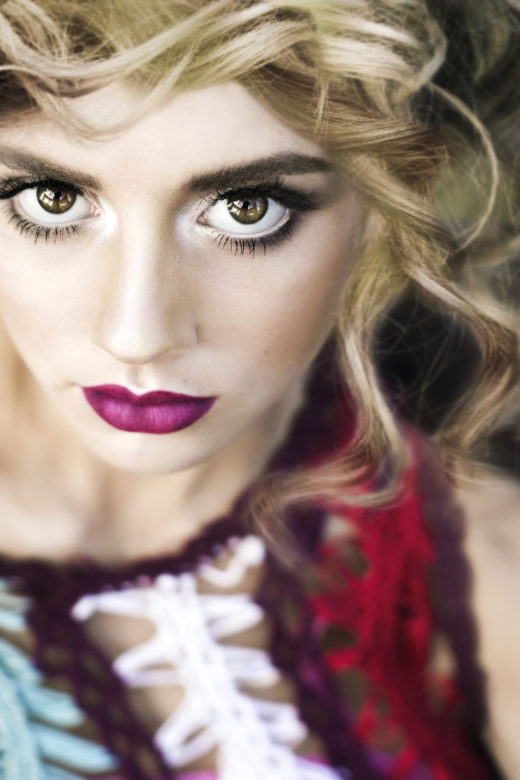 makeup closeups on model for Byron bay's Most Popular beauty  Photographer