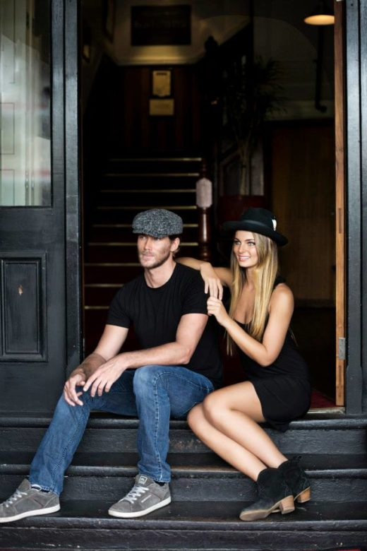 hot couple in Byron Bay wearing Stetson's Cap and Fedora Hat  American spirit