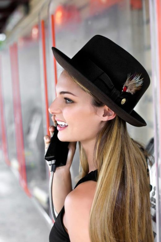 beautiful Elle May Smith for Stetson fedora  Hat The essence of the American spirit in byron bay