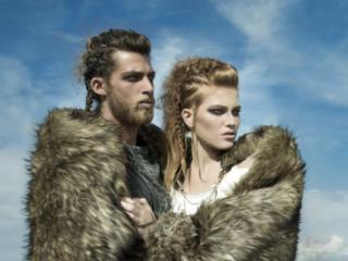 hot couple  Vikings editorial at  Byron Bay Beach