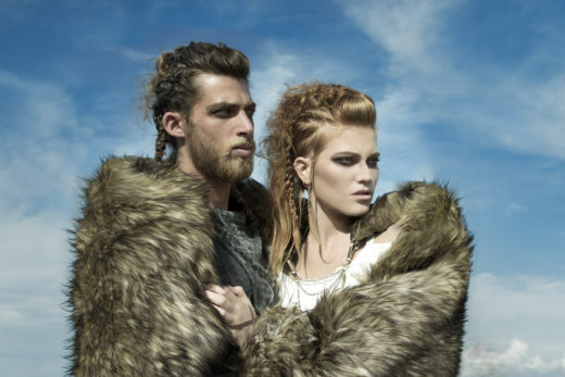 hot couple  Vikings editorial at  Byron Bay Beach