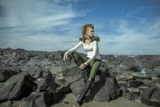 top 10 Best Fashion Vikings editorial at  Byron Bay Beach amazing hair