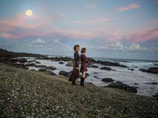 full moon on water in Fashion editorial photographer Byron Bay Beach