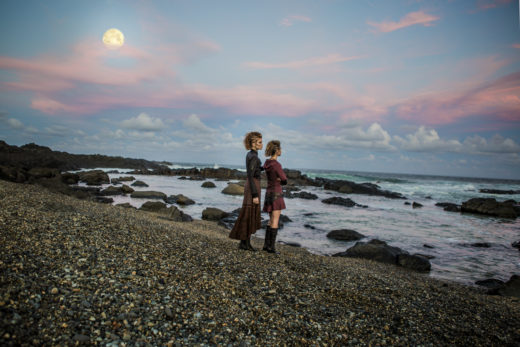 full moon on water in Fashion editorial photographer Byron Bay Beach