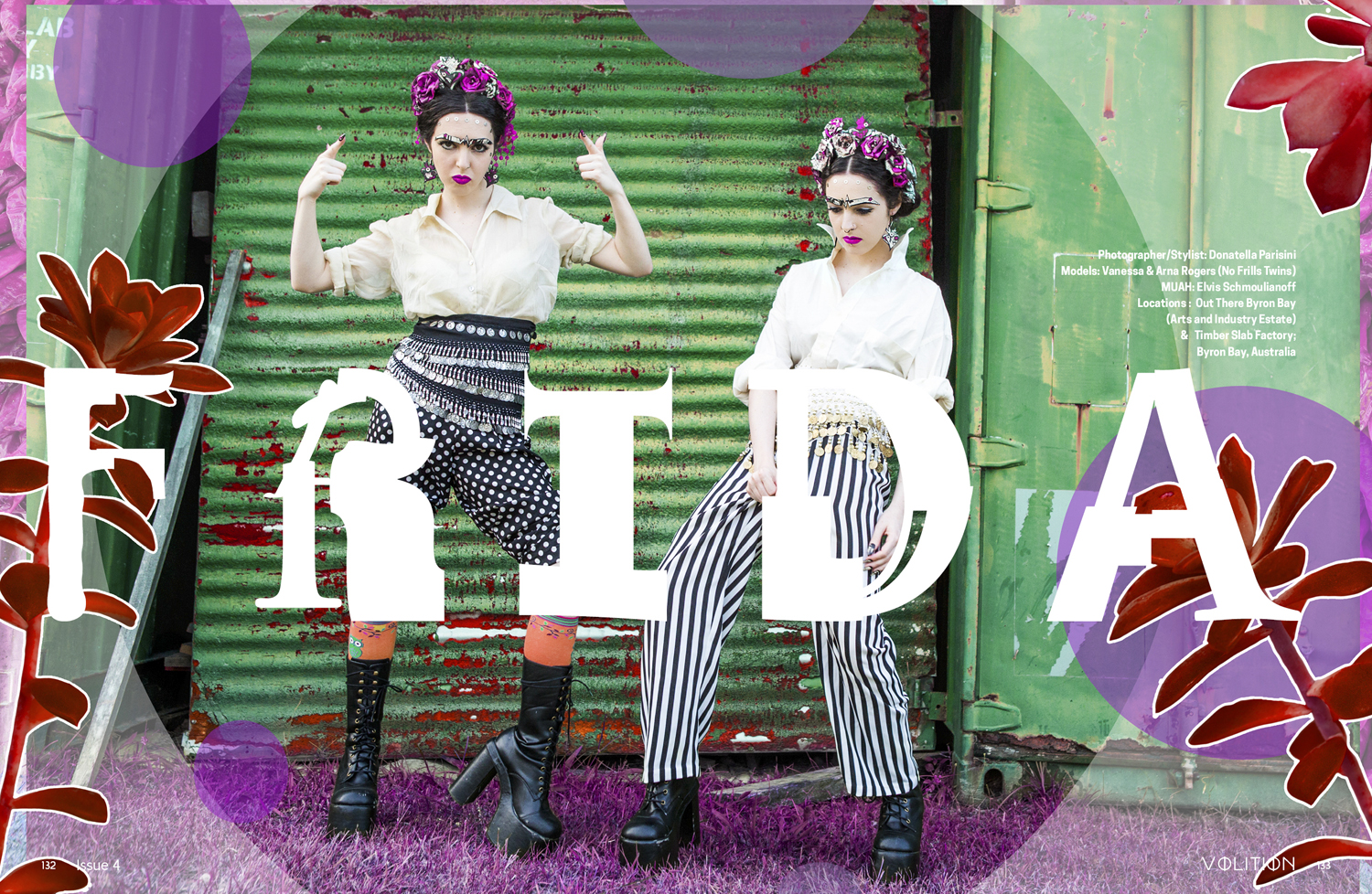 "No Frills Twins 'FRIDA!"" editorial"