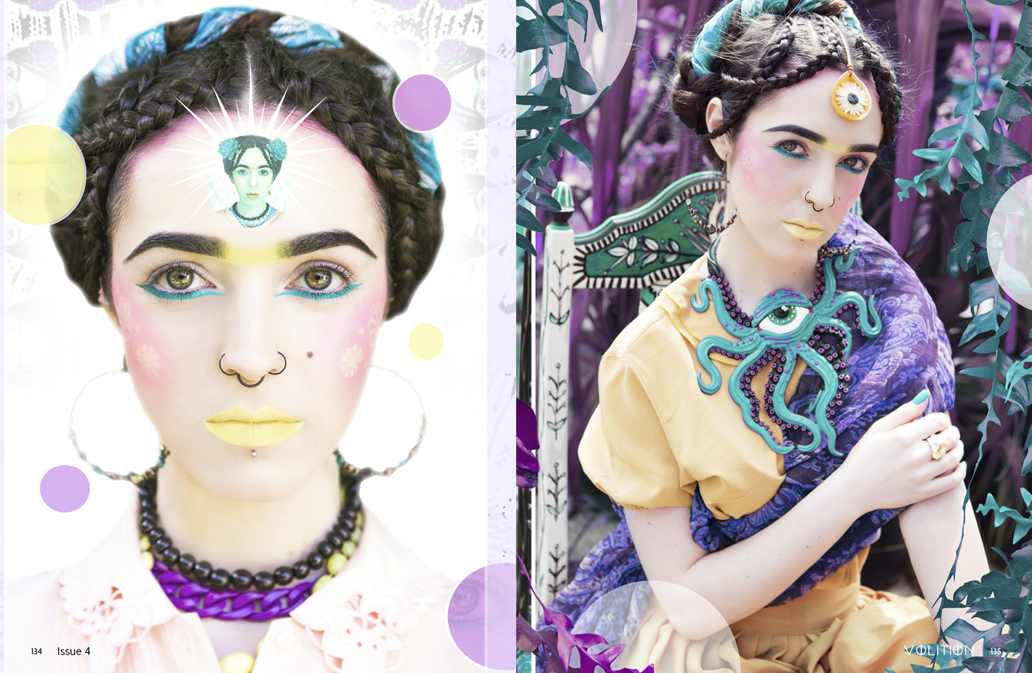 "No Frills Twins 'FRIDA!"" editorial on Volition Magazine LA"